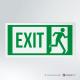 Cartello Uscita d'emergenza EXIT rettangolare 2-1 DX