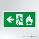 Cartello Uscita d'emergenza antincendio rettangolare 2-1 SX