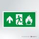 Cartello Uscita d'emergenza antincendio rettangolare 2-1 SU