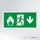 Cartello Uscita d'emergenza antincendio rettangolare 2-1 GIU'