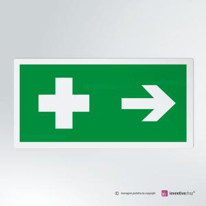 Cartello multi-materiale: Pronto soccorso rettangolare 2-1