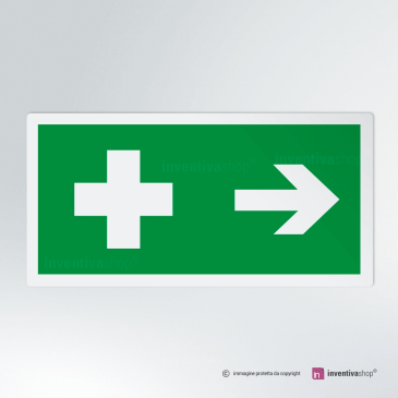 Cartello Pronto soccorso rettangolare 2-1 DX