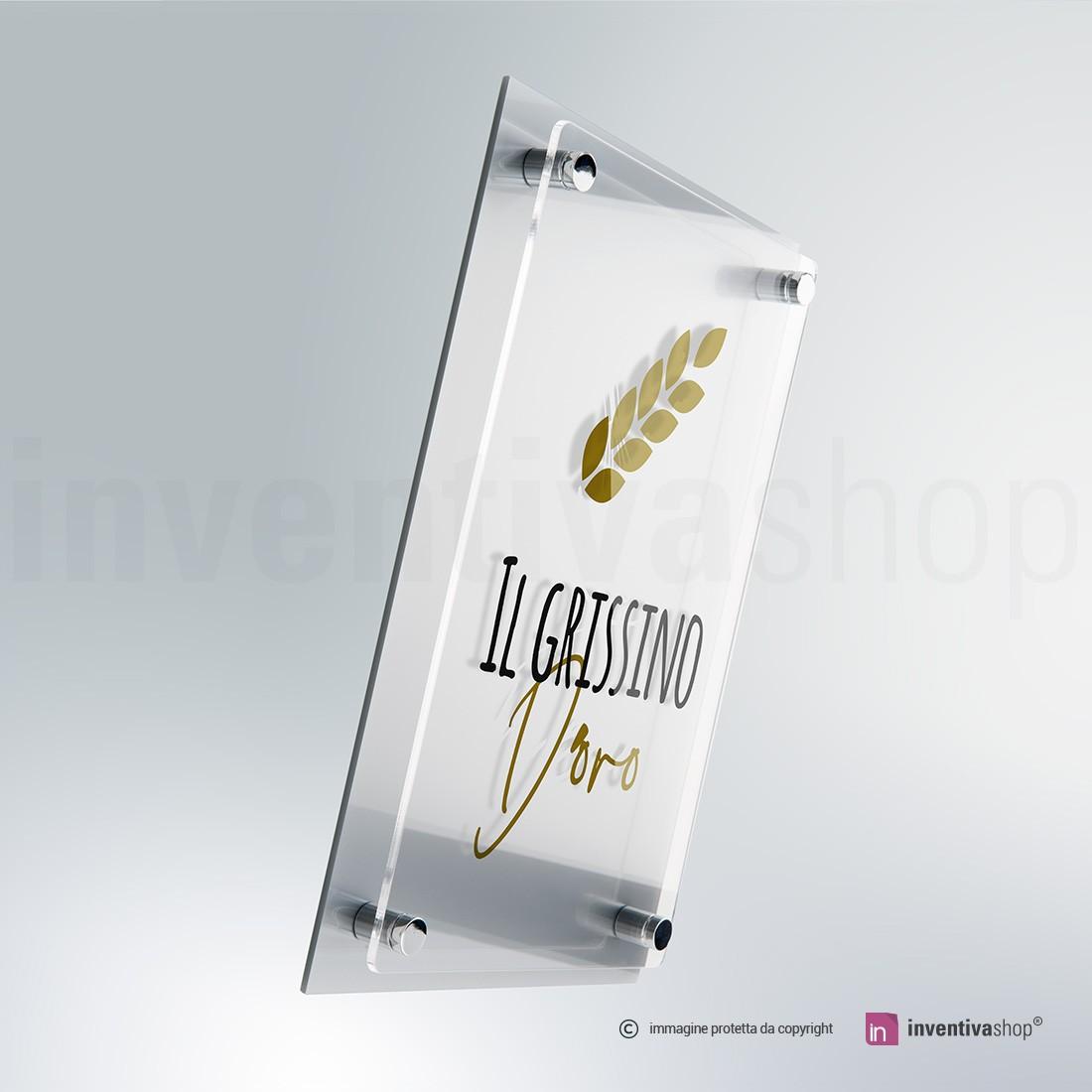 Targhe plexiglass doppia lastra silver
