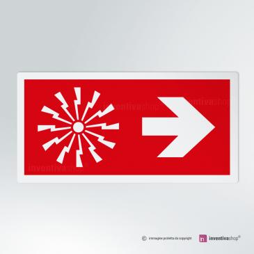 Cartello Allarme antincendio direzionale rettangolare 2-1