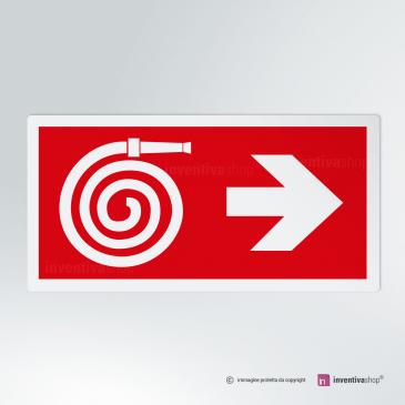 Cartello Idrante direzionale rettangolare 2-1