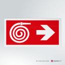 Adesivo Uscita d'emergenza antincendio direzionale rettangolare 2-1