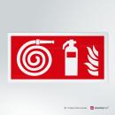 Adesivo Idrante ed Estintore antincendio rettangolare 2-1