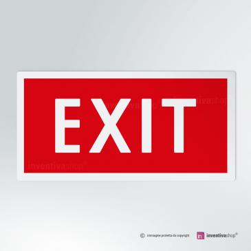 Cartello EXIT antincendio rettangolare 2-1