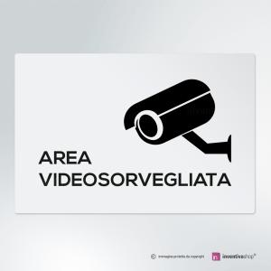 Cartello multi-materiale: Area videosorvegliata Easy