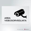 Adesivo Area videosorvegliata Easy