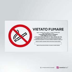 Cartello multi-materiale: Vietato fumare rettangolare 2-1