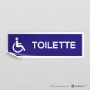 Adesivo Toilette Disabili vers.A con finitura Bianco