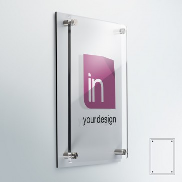 Targhe DualPlate Verticale: fondo alluminio bianco