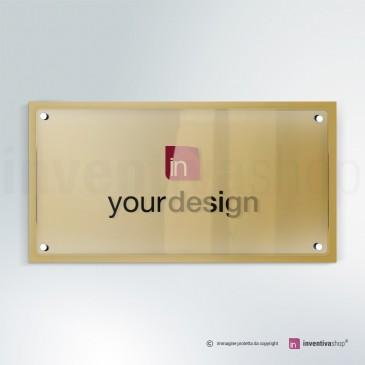 Targa in plexiglass DualPlate Aspect 2-1: Gold