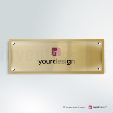 Targa in plexiglass DualPlate Aspect 3-1: Gold