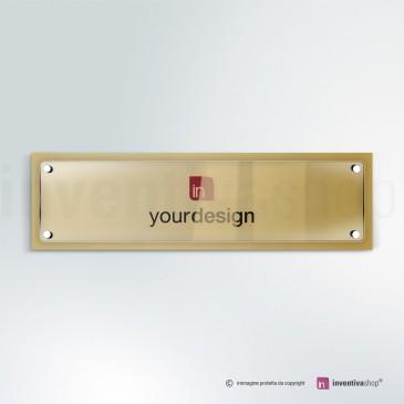 Targa in plexiglass DualPlate Aspect 4-1: Gold