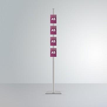 Espositore per agenzie immobiliari da pavimento: 4 tasche frontali A5 verticale