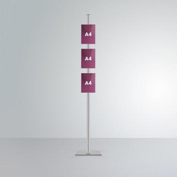 Espositore da terra Slend: 3 tasche frontali A4 verticale