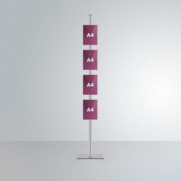 Espositore da terra Slend: 4 tasche frontali A4 orientamento verticale