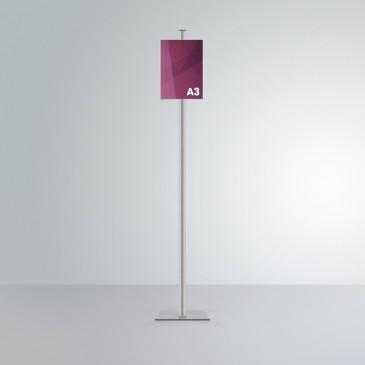 Espositore da terra Slend: tasca frontale formato A3 orientamento verticale