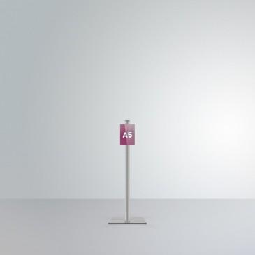 Espositore da terra alto 1 m Slend con tasca frontale A5 orientamento verticale