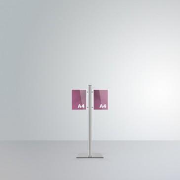 Espositore da terra alto 1 m Slend: 2 tasche A4 orientamento verticale