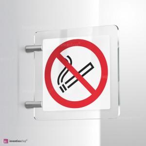 Cartello Plex: Vietato fumare bifacciale