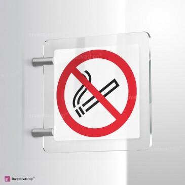 Cartello vietato fumare in plexiglass bifacciale