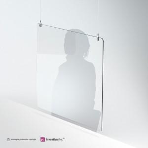 Protezione in plexiglass sospeso