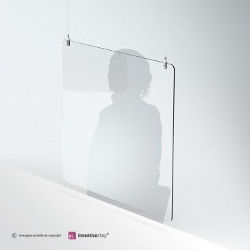 Protezione in plexiglass da appendere