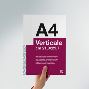 Flyer A4: formato verticale