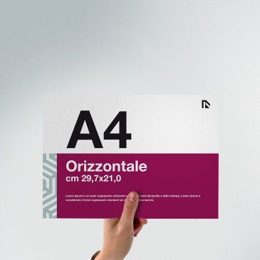 Flyer A4: formato orizzontale