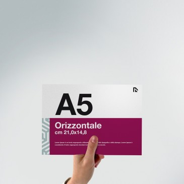Flyer A5: formato orizzontale