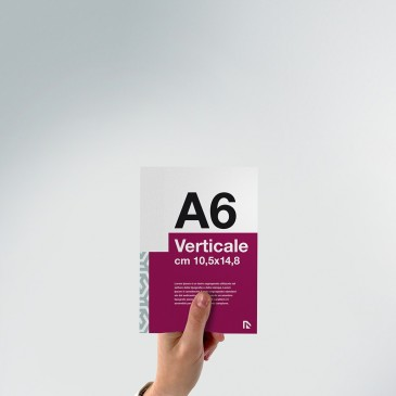 Flyer A6: formato verticale