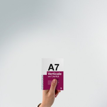 Flyer A7: formato verticale