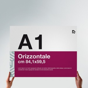 Poster A1: formato orizzontale