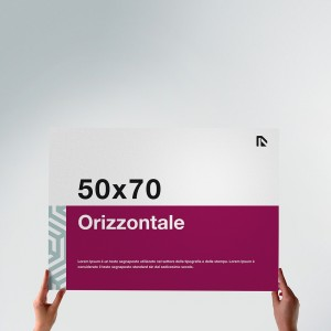 Poster 50x70: formato orizzontale