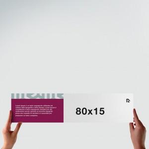 Poster 80x15: formato orizzontale