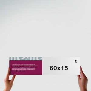 Poster 60x15: formato orizzontale