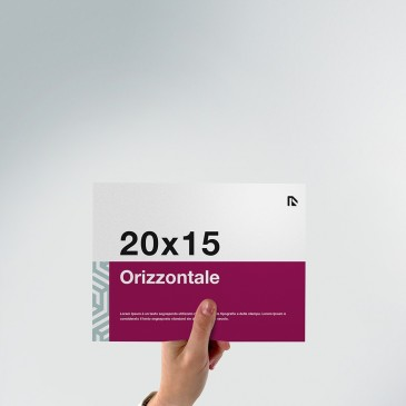 Flyer 20x15: formato orizzontale