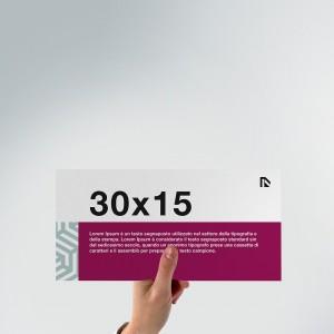 Flyer 30x15: formato orizzontale
