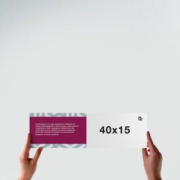 Flyer 40x15: formato orizzontale