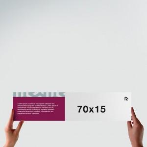 Poster 70x15: formato orizzontale