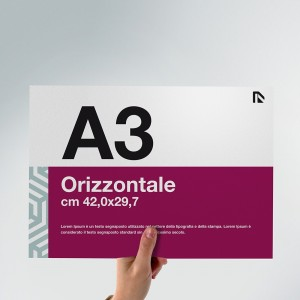 Flyer A3: formato orizzontale