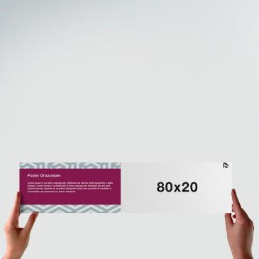 Poster 80x20: formato orizzontale
