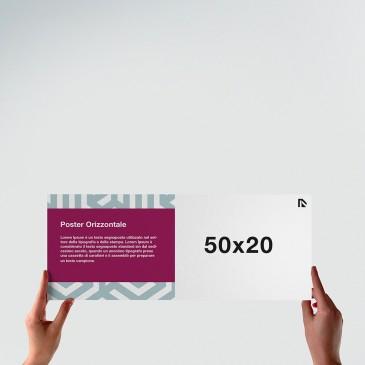 Poster 50x20: formato orizzontale
