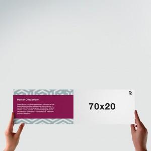 Poster 70x20: formato orizzontale