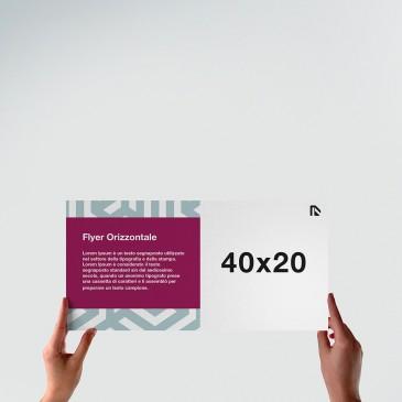 Flyer 40x20: formato orizzontale