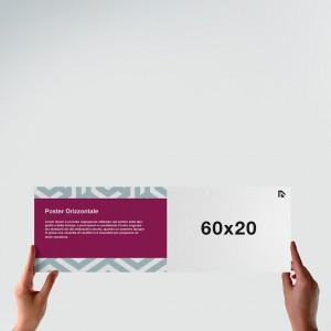 Poster 60x20: formato orizzontale