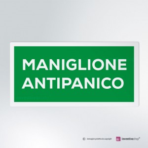 Cartello multi-materiale: Maniglione Antipanico 2-1